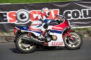 Bozzy and his RD - putting the old girl through her paces at the Classic TT down at Ginger Hall